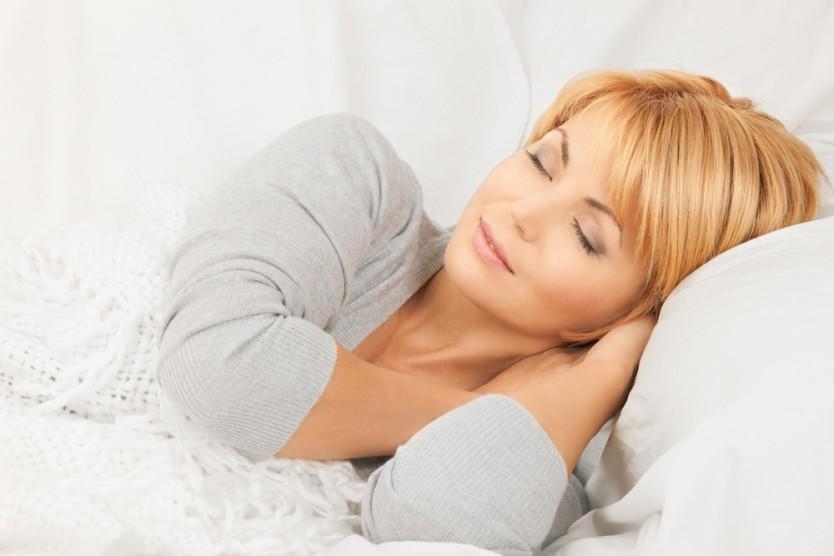 Natural Beauty Woman Sleeping